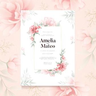Floral verlovingsuitnodiging