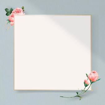 Floral vierkant gouden frame