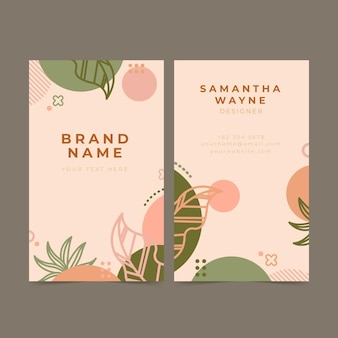 Floral visitekaartje set