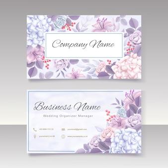 Floral visitekaartje sjabloon