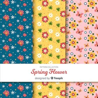 Floral voorjaar patroon collectie