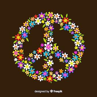 Floral vredesteken achtergrond