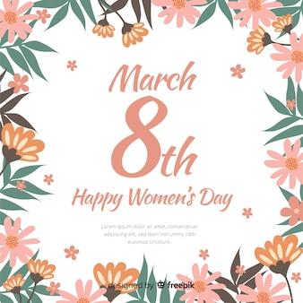 Floral vrouwendag achtergrond