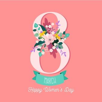 Floral vrouwendag concept