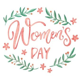Floral vrouwendag in aquarel