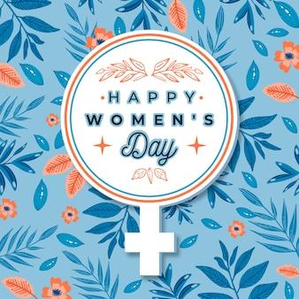 Floral vrouwendag met symbool
