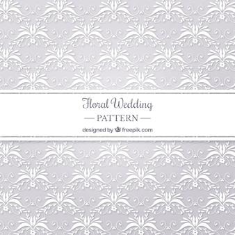 Floral wedding pattern backgorund