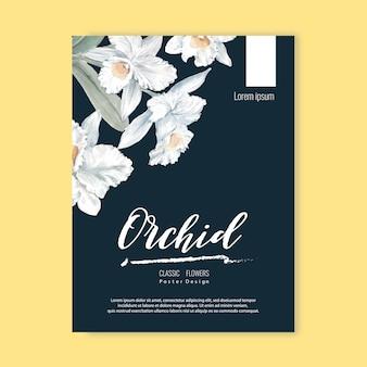 Floral wieden kaart