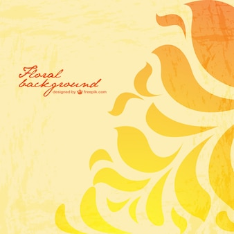 Florale achtergrond geel ontwerp