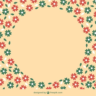 Florale achtergrond gratis sjabloon