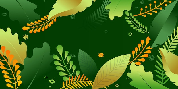Florale achtergrond voor web en apps vlakke afbeelding