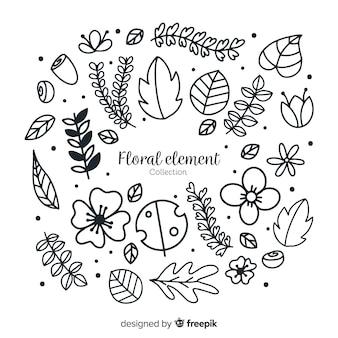 Florale decoratie-elementen