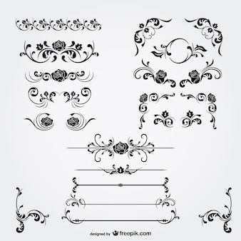 Florale decoraties vector