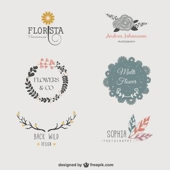 Florale logo templates
