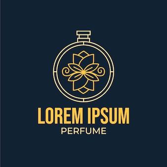 Florale stijl voor parfumlogo