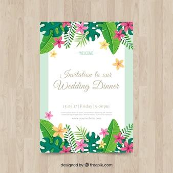 Florid wedding invitation