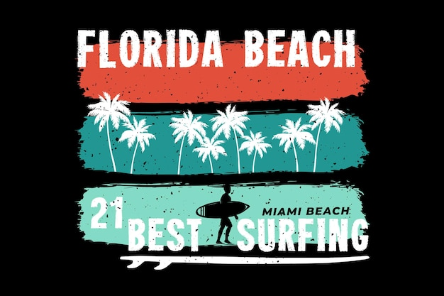 Florida strand surfen miami retro stijl