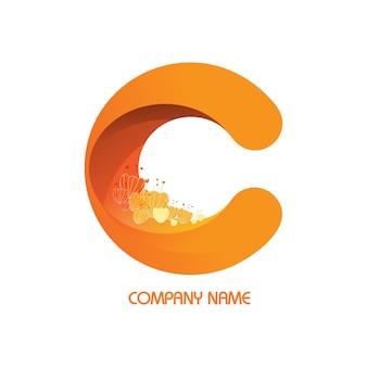 Flower in logos bedrijf.