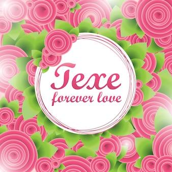 Flower love banner