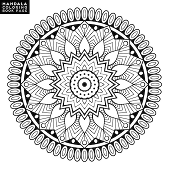 Flower mandala. vintage decoratieve elementen. oosterse patroon, vectorillustratie. islam, arabisch, indisch, marokkaans, spanje, turks, pakistan, chinees, mysticus, ottomaanse motieven. kleurboek pagina