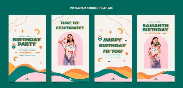 Flt ontwerp minimale verjaardag ig verhalen