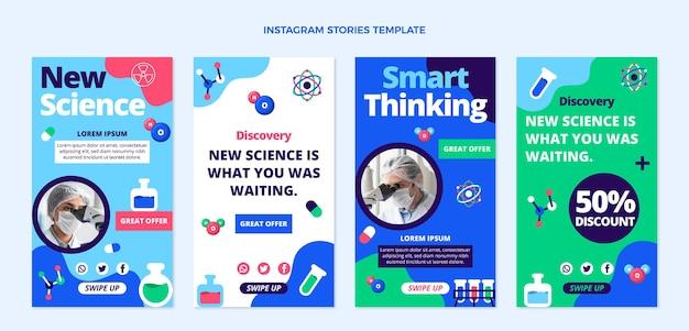 Flt ontwerp wetenschap instagram verhalen