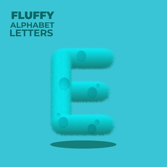 Fluffy gradient engelse alfabet letter e