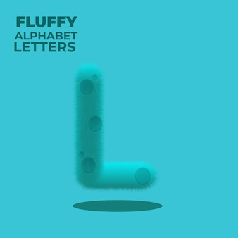 Fluffy gradient engelse alfabet letter l