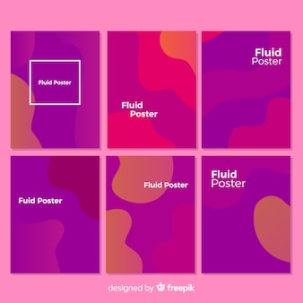 Fluid backgrounds set collection