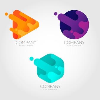 Fluid logo collection