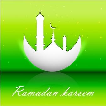 Fluor groene ramadan kareem