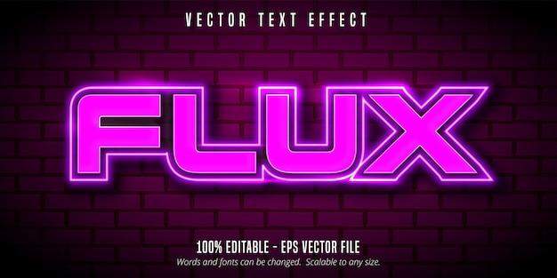 Flux tekst, bewerkbaar teksteffect in neonstijl
