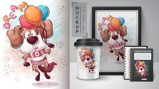 Fly dog poster en merchandising