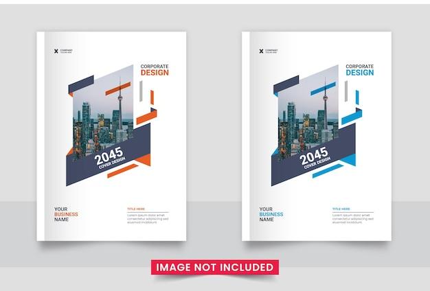 Flyer boekomslag sjabloonontwerp lay-out in a4-formaat