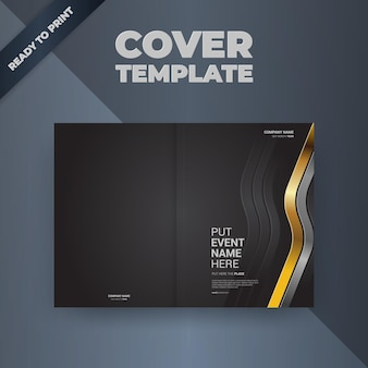 Flyer brochure ontwerpsjabloon omslagontwerp