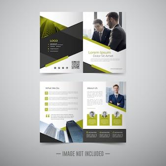 Flyer brochure ontwerpsjabloon