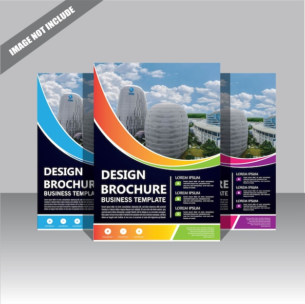 Flyer brochure sjabloon lay-out cover ontwerp jaarverslag