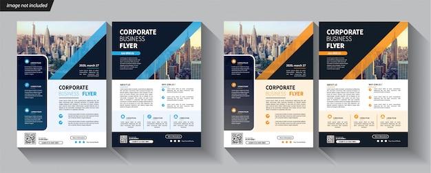Flyer business sjabloon voor cover brochure corporate