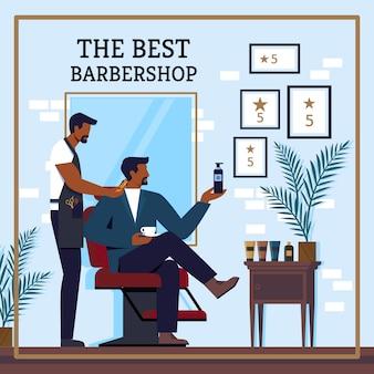 Flyer inschrijving de beste barbershop cartoon.