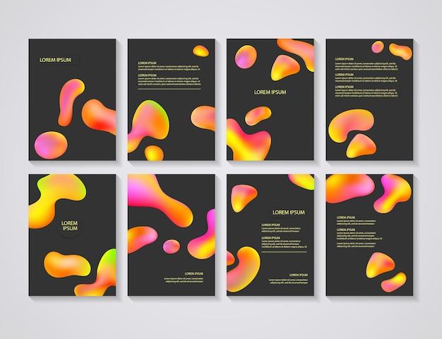 Flyer lay-outs met abstract kleurrijk in a4-formaat.