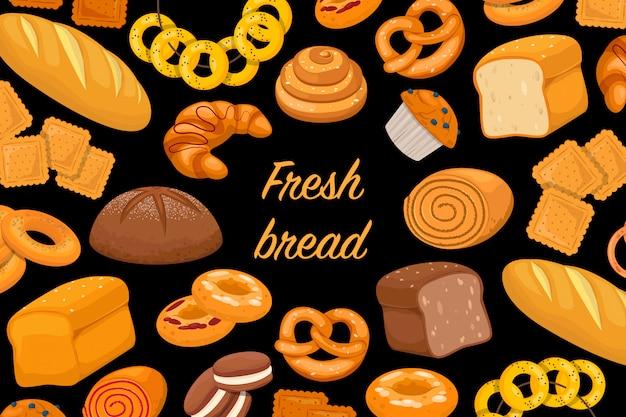 Flyer met gebakken producten