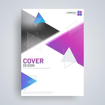 Flyer of dekking ontwerp voor het bedrijfsleven