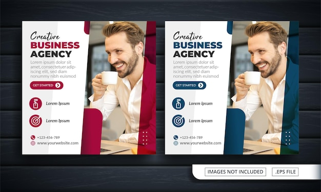 Flyer of social media post themed business agency
