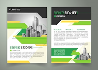 Flyer, omslagontwerp, zakelijke brochure