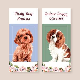 Flyer-sjablonen met honden