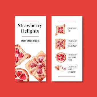 Flyer-sjablonen voor bakkerijverkoop