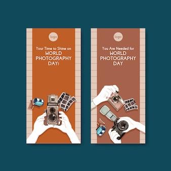 Flyer-sjablonen voor wereldfotografie-dag
