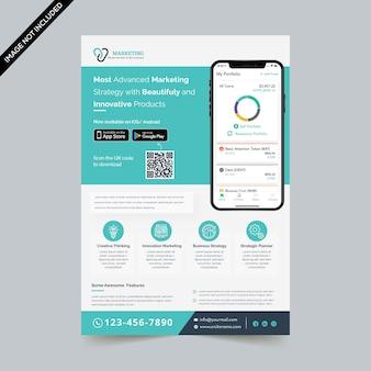Flyer-sjabloon mobiele app