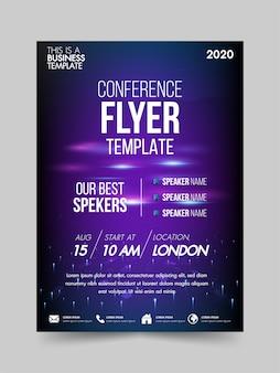 Flyer sjabloon technologie conferentie