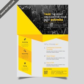 Flyer sjabloon voor bedrijven